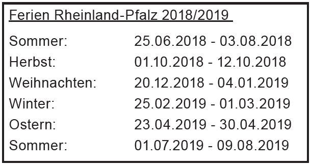 Ferienplan 2018/2019