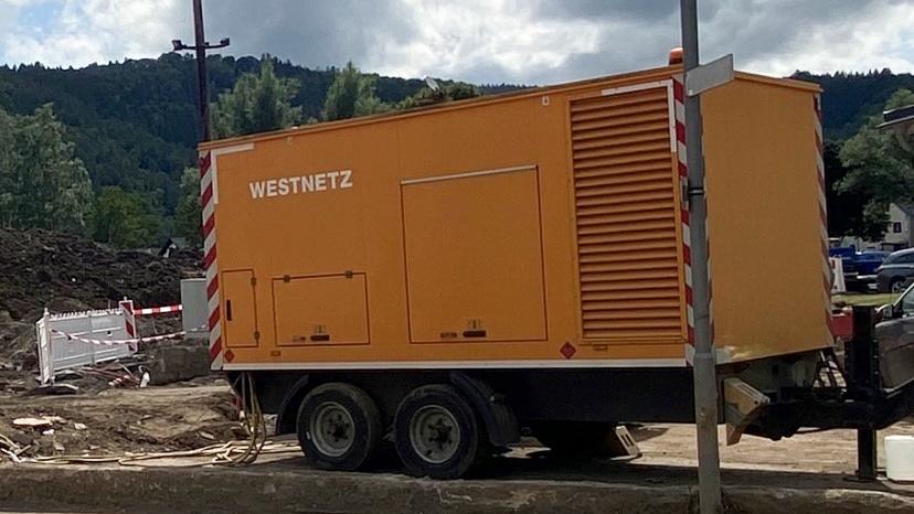 Westnetz beendet den Einsatz von Notstromaggregaten im Ahrtal